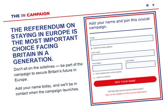 in campaign site