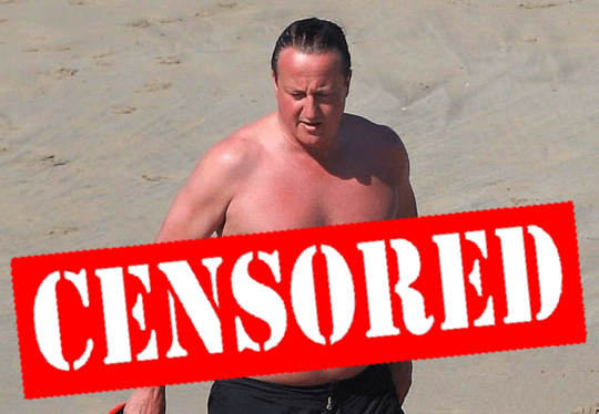 Cameron On Holiday Censored