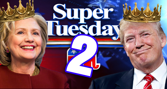 Super Tuesday Trump Clinton