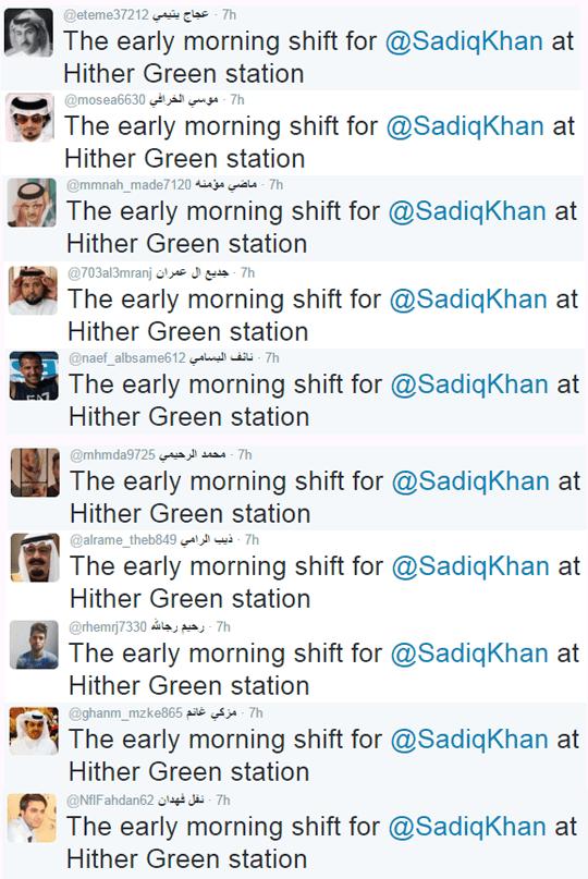 tweet list sadiq khan