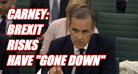 "Carney: Brexit Risks ""Down"""