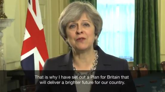 Watch: May Launches Plan for Britain