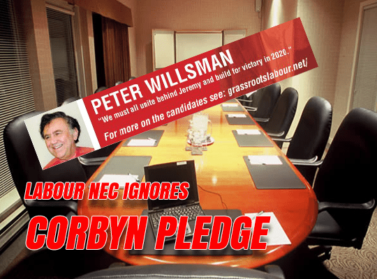 NEC Swerves Corbyn Loyalty Pledge