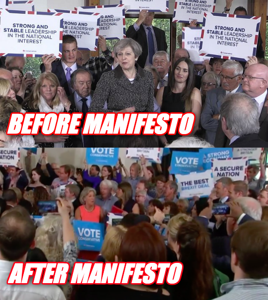 Tory Placards Compare and Contrast