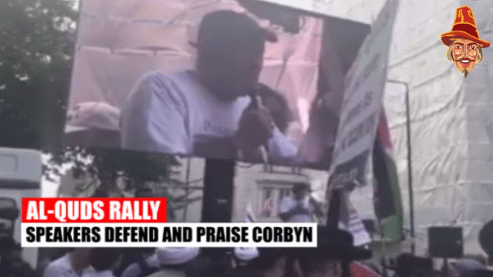Corbyn Praised at London Hezbollah Rally