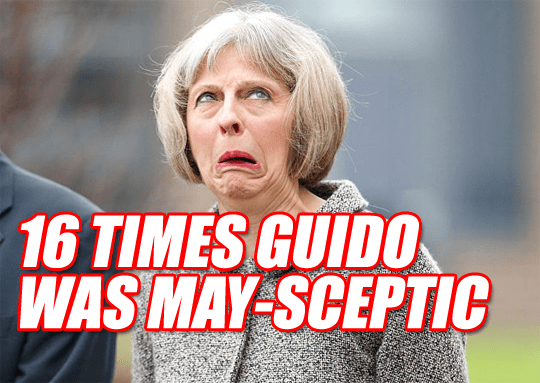 Told You So: 16 Times Guido Was May-Sceptic