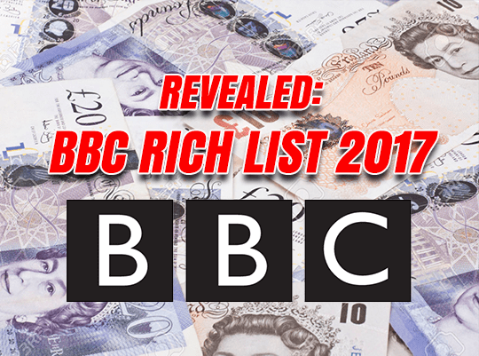 BBC Rich List Revealed: Salaries In Full