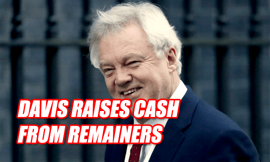 Davis Accepts Donations from Top Blairite and TV Remainer
