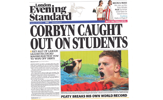 Guido's Student Debt Story on Standard Front Page