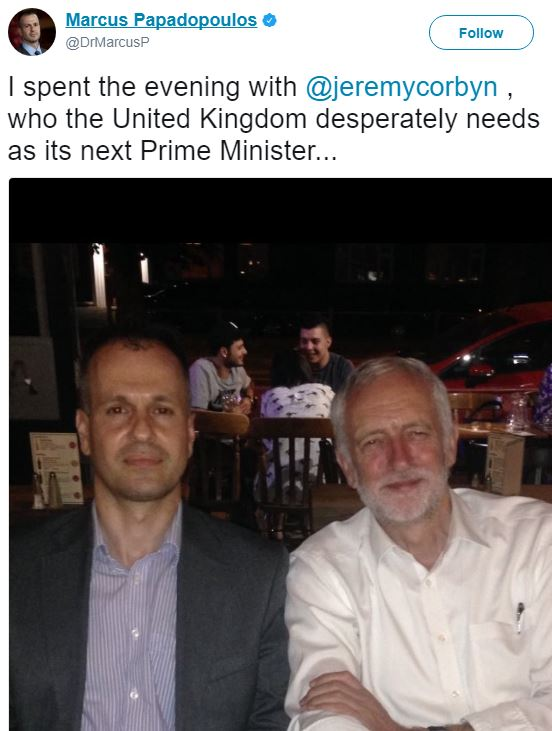 Corbyn Spends Evening With Assad Loving Genocide Denier