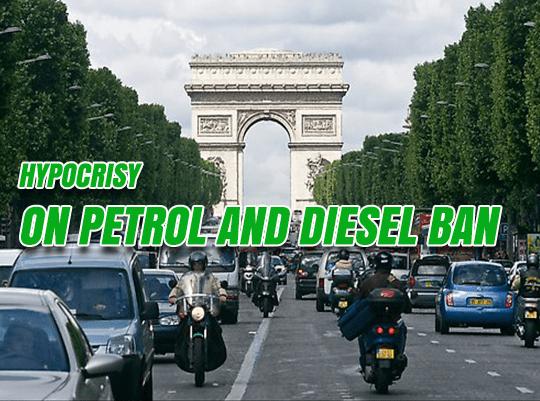Petrol and Diesel Ban Hypocrites