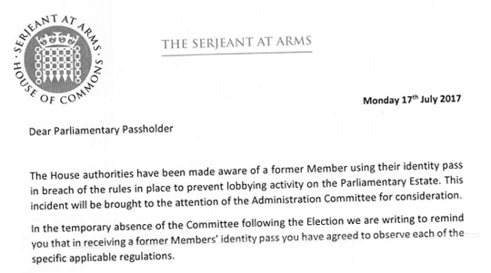 Former MP Abusing Parliamentary Pass