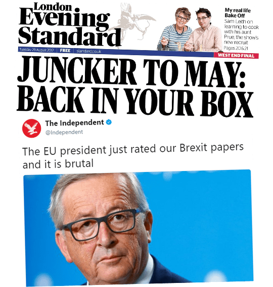 Remain Papers Backing Juncker