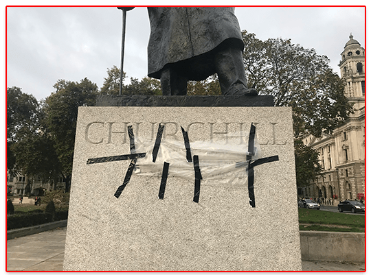 Man Arrested After Churchill Statue Vandalised Outside Parliament
