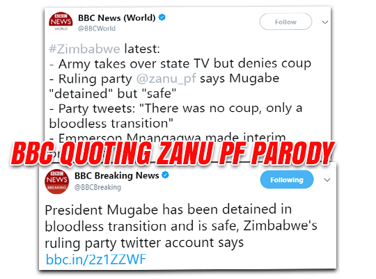 BBC News Duped by Zanu PF Twitter