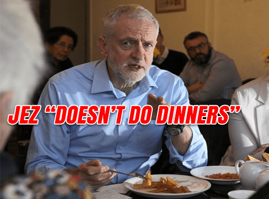 "Jez ""Doesn't Do Dinners"""