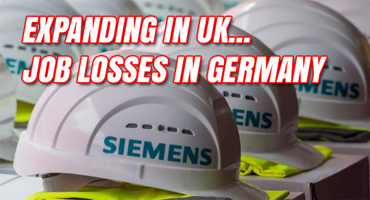 Siemens to Cut European Jobs, Expand in UK