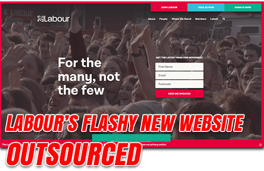 Labour Outsources Flashy New Website to Bernie's US Consultants