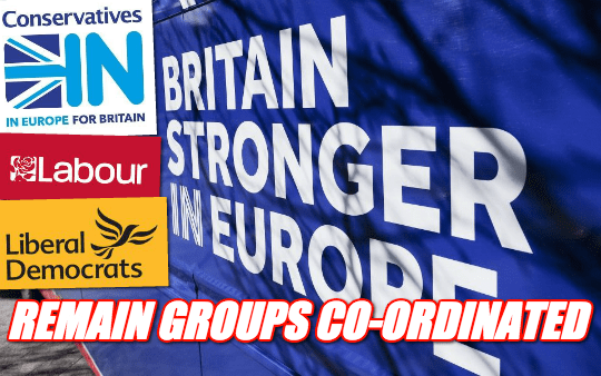 Remain Groups Shared Data, Suppliers and Campaign Materials