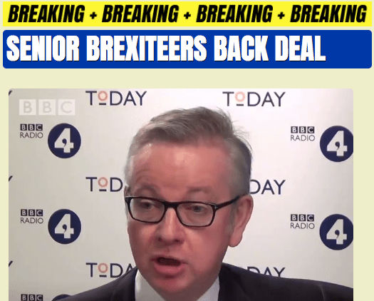 Senior Brexiteers Back Deal
