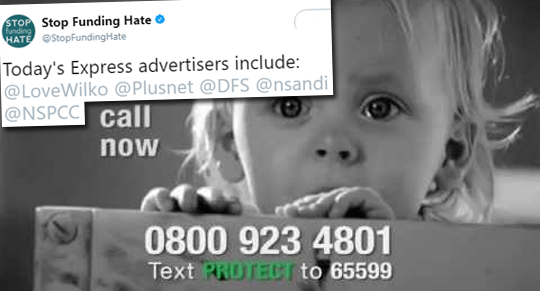 Now Stop Funding Hate Targets NSPCC
