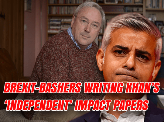 Khan Gets Brexit-Bashing Corbynistas To Write His 'Independent' Impact Papers