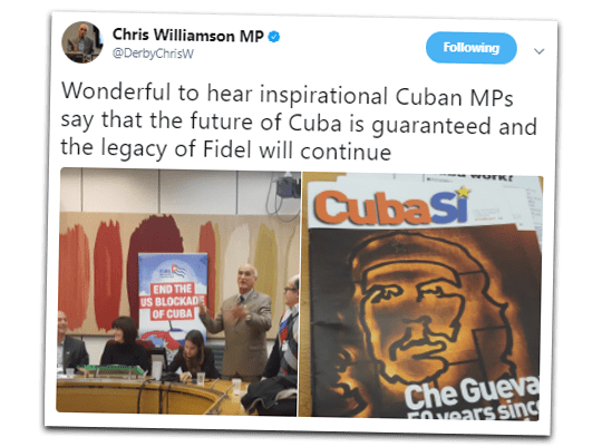 Loony Chris Williamson Still Loving Castro