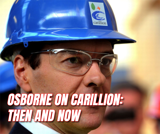 Osborne on Carillion: Then and Now