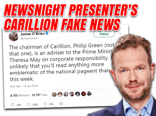 James O'Brien's Carillion Fake News Goes Viral