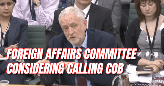 Tories Demand Agent COB Faces Foreign Affairs Select Committee