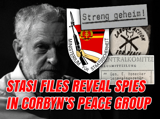 Stasi Files: Corbyn's Peace Group Infiltrated by Spies