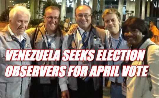 Venezula Seeks Election Observers As Maduro Bans Opposition From Running VENEZUELA