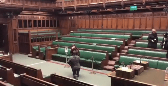 Man Pops Question in Commons Chamber