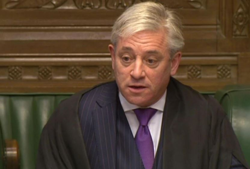 Bercow Worked With Labour on Humble Address