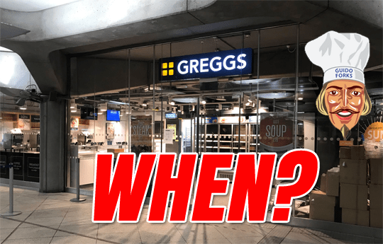 Greggs Westminster Update