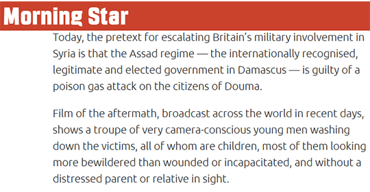 Morning Star Suggests Douma Attack Was Set-Up