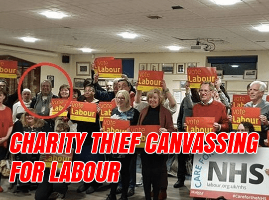 Convicted Charity Thief Canvassing for Labour
