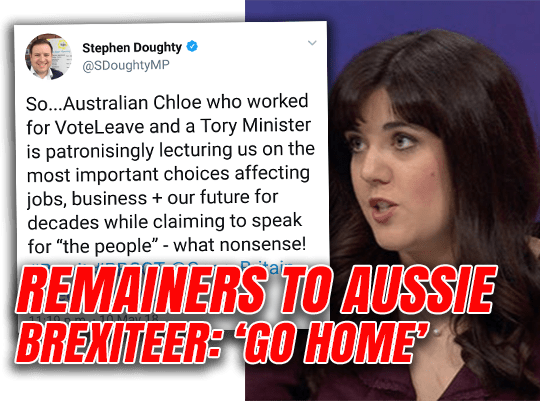 Remainers Tell Aussie Brexiter to Go Home