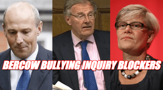 Bercow Bullying Inquiry Blockers