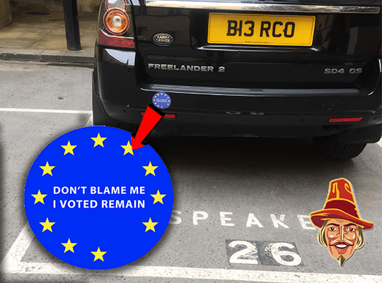 New Bercow Anti-Brexit Car Storm