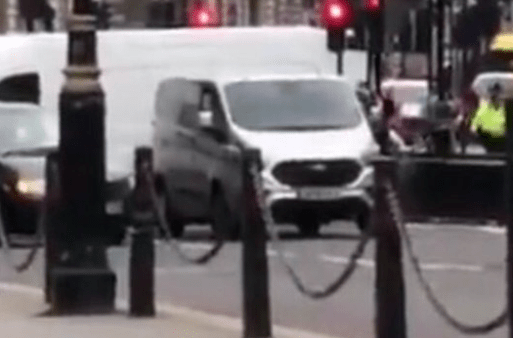 Car crashes into security barriers outside Parliament: Armed police surround driver Following-van-e1534249174789.png?zoom=1