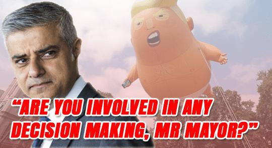 Sadiq Lied Over Trump Blimp