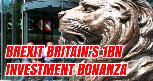 order-order.com - Tom Harwood - Brexit Britain's £1bn Investment Bonanza