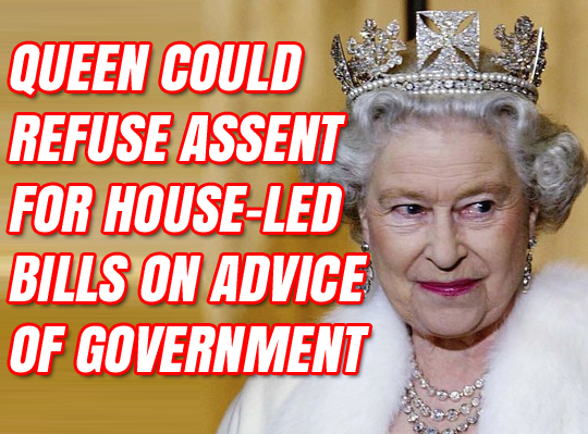 Government Entitled to Ask Queen Not to Give Assent to Brexit Wreckers' Bills
