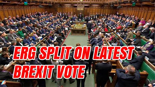 ERG Splits On Latest Brexit Vote Overblown