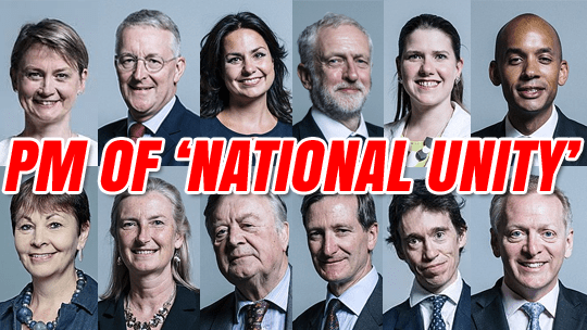 'National Unity' Prime Minister: Runners and Riders