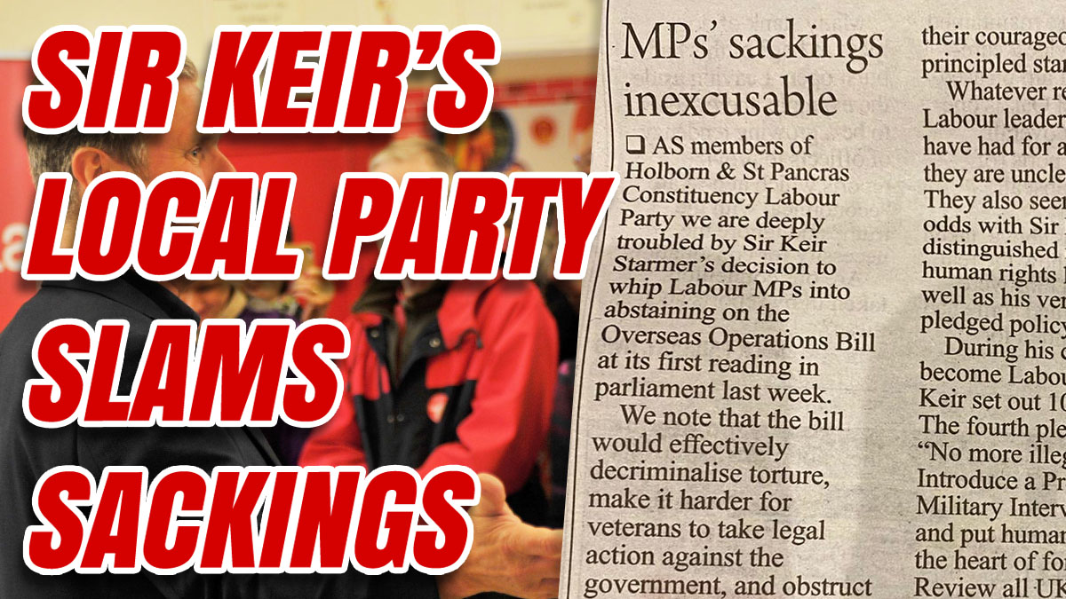 Holborn and St Pancras CLP is Revolting Against Flip Flopping Keir