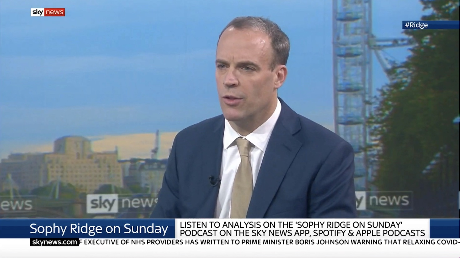 Raab: EU Will Have to Compromise by End of the Day for Negotiations to Continue
