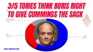 Most Tories Think Boris Right to Ditch Cummings