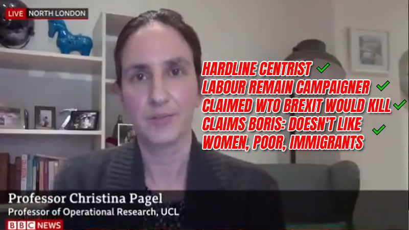 BBC Six O'Clock News Expert is Boris Hating, Brexit Bashing, Remain Campaigning, Hardline Centrist